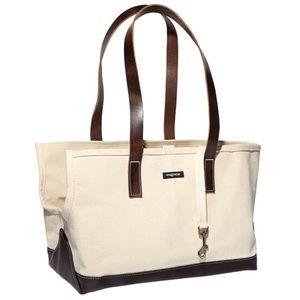 Handbags - Wag Wear canvas dog carrier. Espresso, size small
